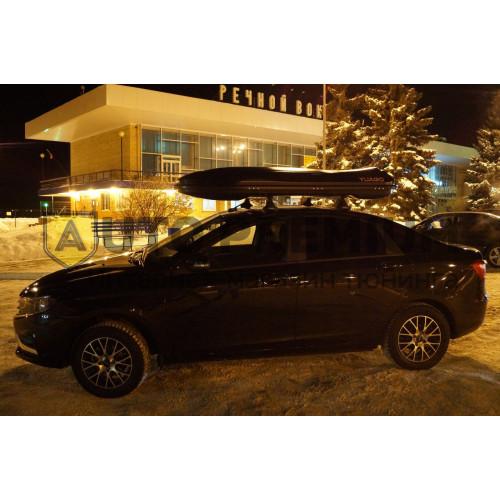 Спортивный автобокс Cosmo EURO (485 л.) Серый,Белый,Черный