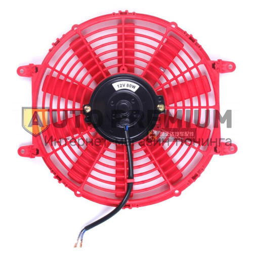 Вентилятор электрический 12 дюймов, красный (300мм)